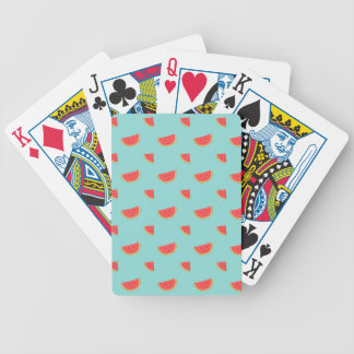 Happy Watermelon Bicycle Playing Cards