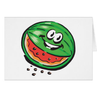 happy watermelon greeting card