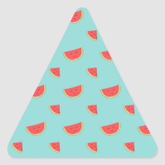 Happy Watermelon Triangle Sticker