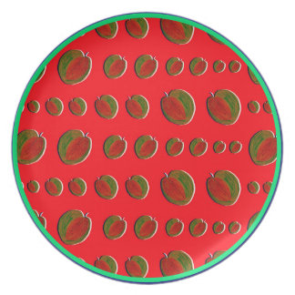 HAPPY WATERMELONS: red [childhood diary] Dinner Plates