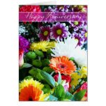 Happy Wedding Anniversary Bouquet Of Flowers Card