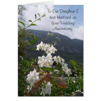 Happy Wedding Anniversary Daughter And Husband Greeting Card