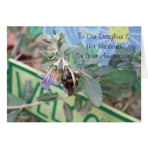 Happy Wedding Anniversary Daughter And Husband Greeting Cards