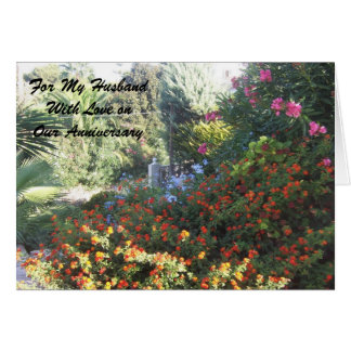 Happy Wedding Anniversary Husband Garden Card