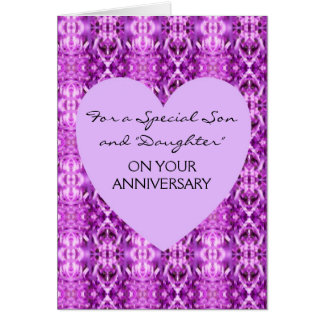 Happy Wedding Anniversary Son And Wife Heart Greeting Card