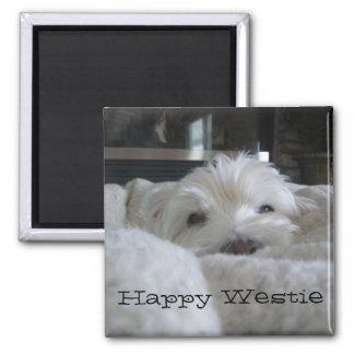 Happy Westie Photo Magnet
