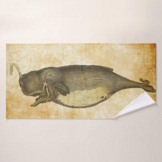 Happy whale bath towel