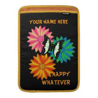 Happy Whatever Personalized Macbook Air Rickshaw S MacBook Sleeve