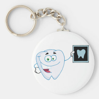Happy White Tooth Keychain