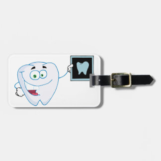 Happy White Tooth Luggage Tags