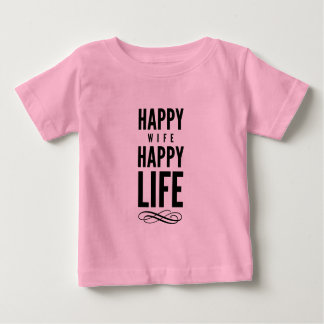 Happy Wife Funny Marriage Quote Pink T-shirts