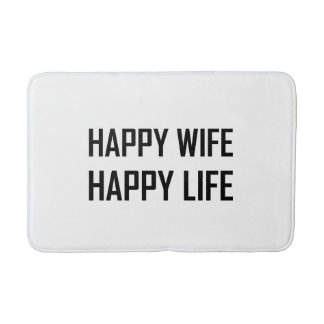 Happy Wife Happy Life Bath Mat