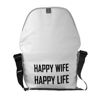 Happy Wife Happy Life Commuter Bag
