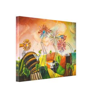 Happy Windmills Canvas Print