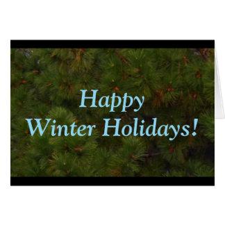 Happy Winter Holidays Evergreen Card