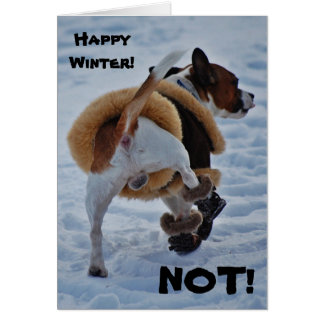 Happy Winter! NOT! Chihuahua Card