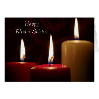 Happy Winter Solstice candles Card