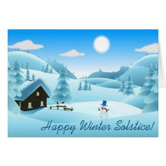Happy Winter Solstice! Snowman Card