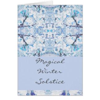 Happy Winter Solstice Yule Snow Card