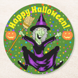 Happy Witch Halloween Coasters