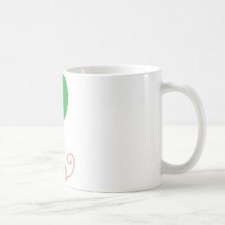 Happy with a green balloon coffee mug