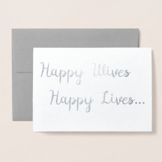 Happy Wives, Happy Lives Card | Lesbian Wedding