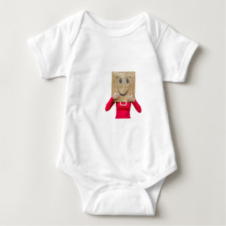 Happy woman with thumbs up baby bodysuit