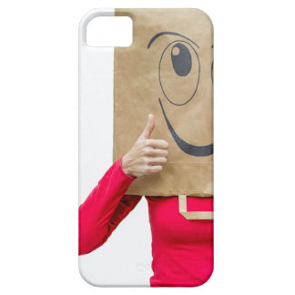 Happy woman with thumbs up iPhone 5 case