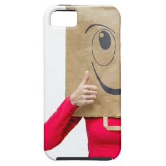 Happy woman with thumbs up iPhone 5 cover
