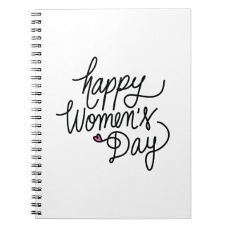 Happy Women's Day Spiral Notebook