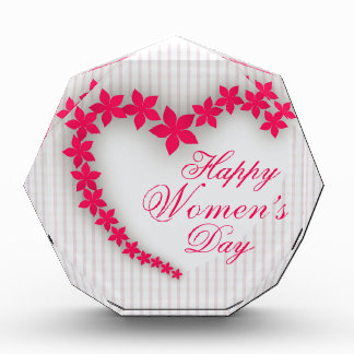 Happy women's day with flower heart