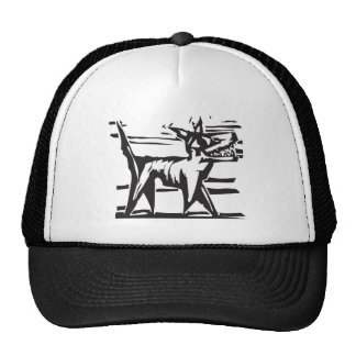 Happy woodcut Dog 2 Trucker Hat