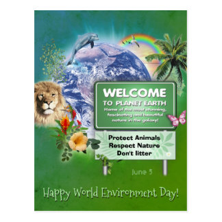 Happy World Environment Day Postcard