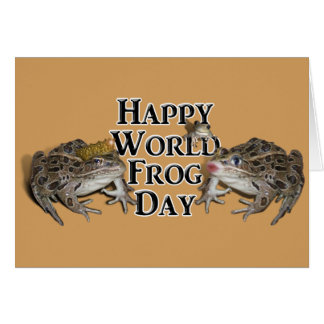 Happy World Frog Day Card