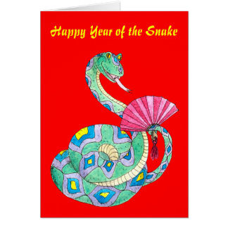 Happy Year of the Snake - Card. Greeting Card