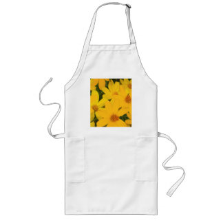 HAPPY YELLOW DAISIES LONG APRON
