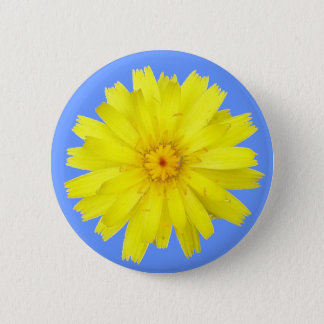 Happy Yellow Dandelion image 2 Inch Round Button