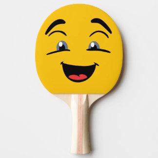 Happy Yellow Emoji Ping Pong Paddle