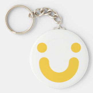 Happy yellow keychain