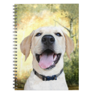 Happy Yellow Lab Notebook