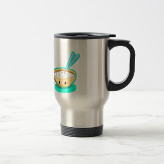 Happy Yellow Rice Bowl Travel Mug