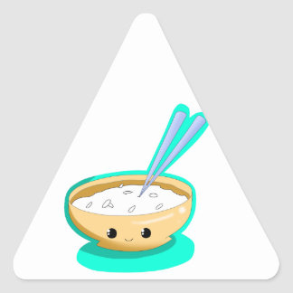 Happy Yellow Rice Triangle Sticker