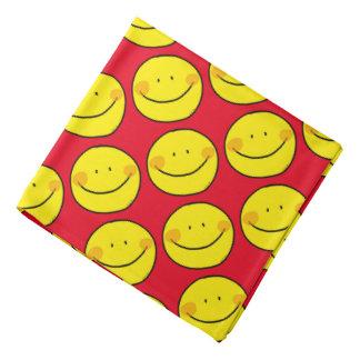 happy yellow smile bandana