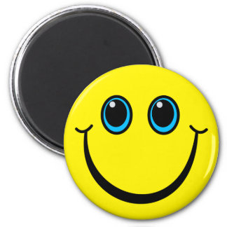Happy Yellow Smiley Face Magnet