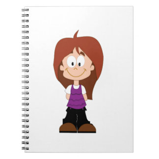 happy young girl notebooks
