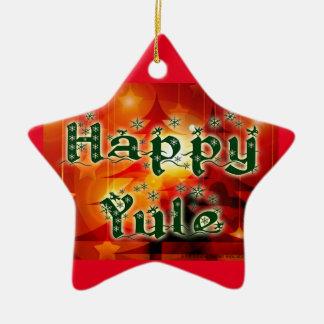 Happy Yule Tree Ornament