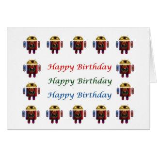 HappyBirthday ANDROID Happy Birthday Card