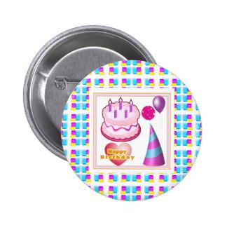 HappyBIRTHDAY Cake Balloon n Text Pins