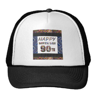 happybirthday happy birthday 90 ninety  90th trucker hat