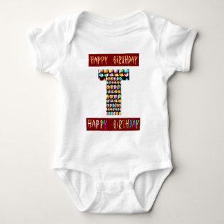 HappyBirthday Script  - ALPHA Alphabet Decorative Tee Shirt